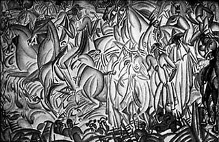 """Avant la corrida"" (1912) de Amadeo Souza-Cardoso"